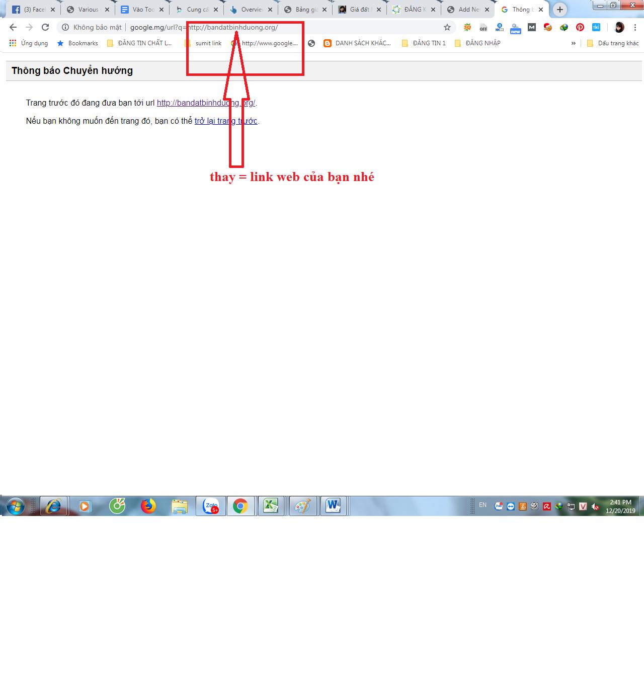 link redirect từ google thật đơn giản chỉ với 1 bước sau đây