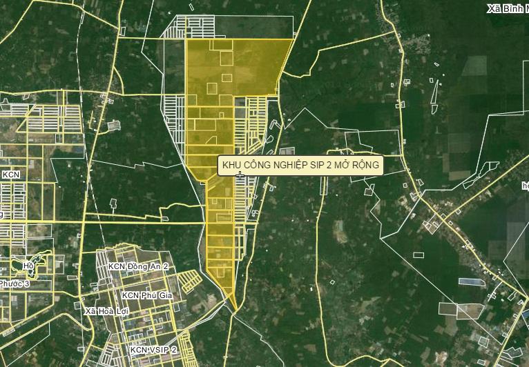 Bản đồ VSIP 2 mở rộng