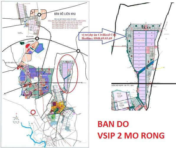 BAN DO KHU CONG NGHIEP  VSIP 2 MO RONG