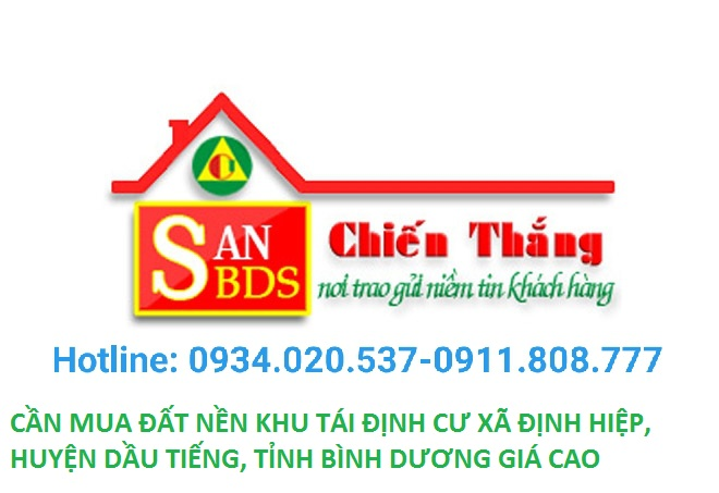 CẦN MUA ĐẤT khu tái Định cư xã Định Hiệp, Huyện Dầu Tiếng, tỉnh Bình Dương