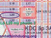 Nhượng QSH Lô L20 Mỹ Phước 3 Bình Dương Giá Chính Chủ