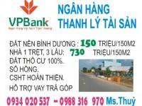 Ngân hàng thanh lý tài sản đất nền,nhà đất Bình Dương,hỗ trợ vay ngân hàng.