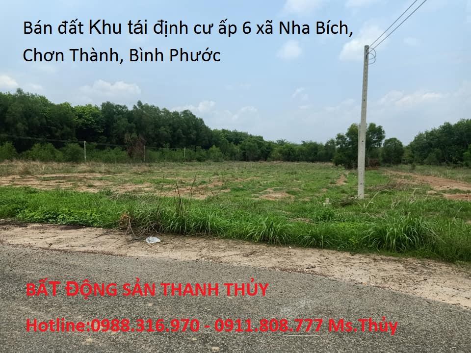 Bán đất Khu tái định cư ấp 6 xã Nha Bích, Chơn Thành, Bình Phước