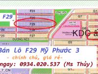 bán lô F29 Mỹ Phước 3