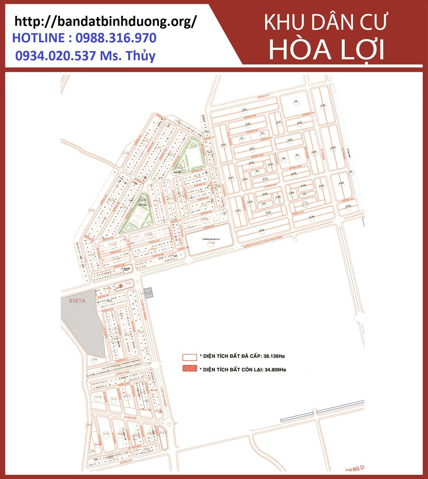 Cần mua đất khu tái định cư Hòa Lợi, Phường Hòa Phú, TP Thủ Dầu 1, tỉnh Bình Dương