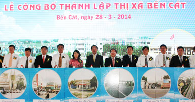 Lễ công bố thành lập Thị xã Bến Cát Bình Dương